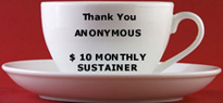 Thank you Anonymous Monthly Sustainer...